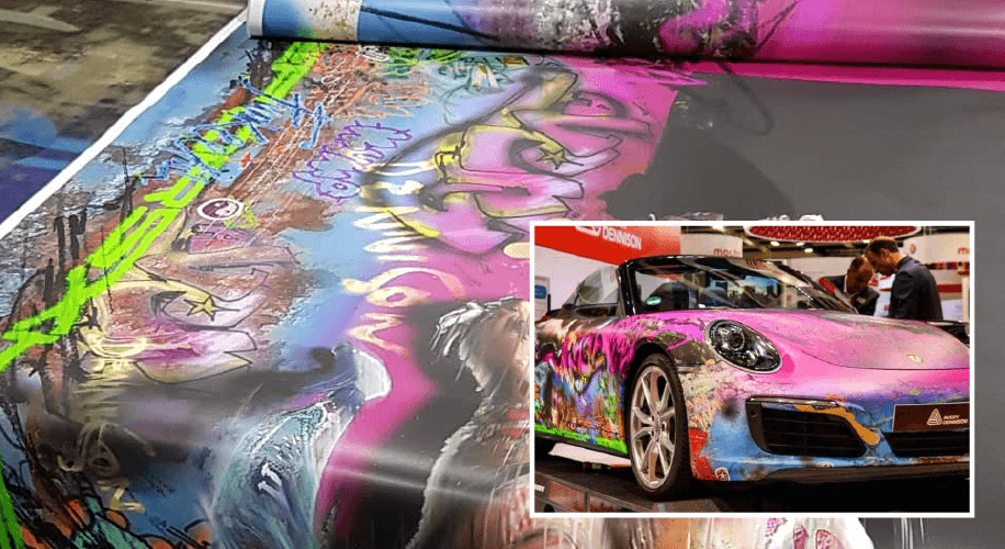 Avery Dennison Porsche 911 wrap at FESPA