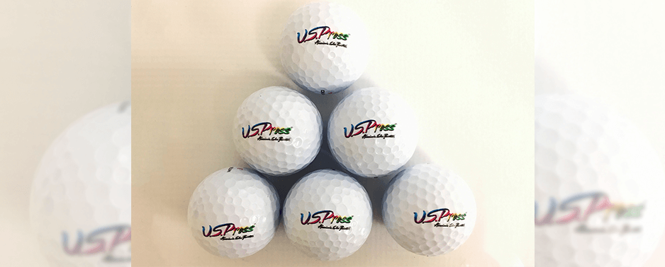 US Press can print directly onto golf balls using their Roland VersaUV LEF-300