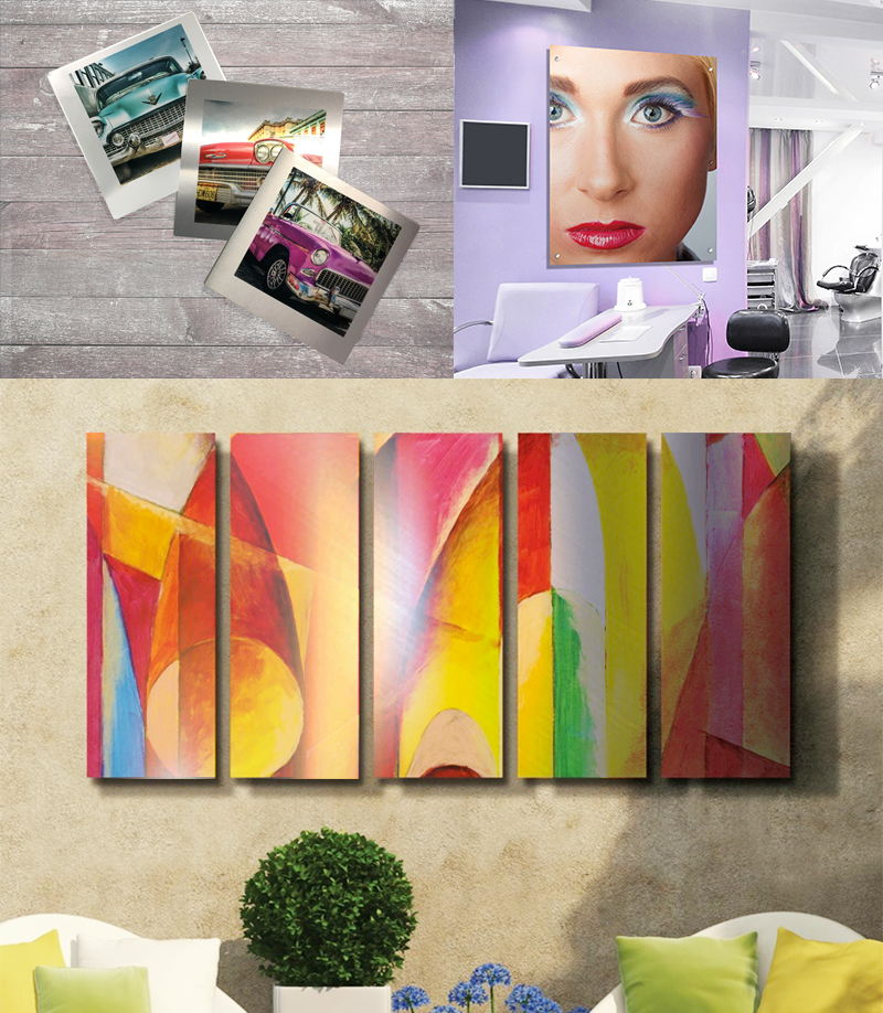 Chromaluxe metal panels are ideal for artwork, printed with Texart