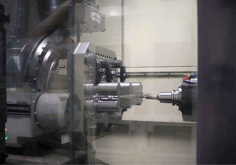 A highly precise CNC machine is used to manufacture the blades