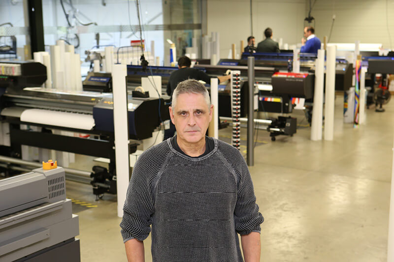 TEASER Chris Gielen immediately purchased two Roland TrueVIS VG2 printers after successful beta test