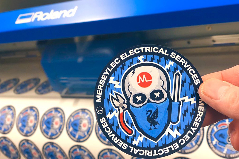 They Vinyl Guys and Merseylec Electrical Services sticker