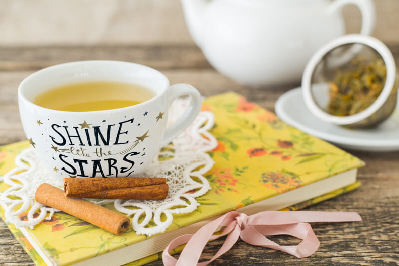 "Tasse ""Shine like the stars"", hergestellt mit Thermosublimationsdrucker"