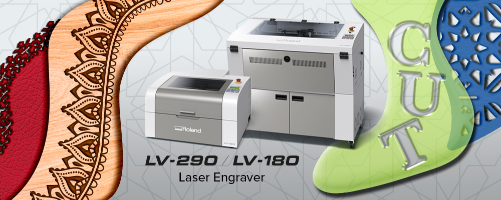 Roland LV-290 and LV-180 laser engravers