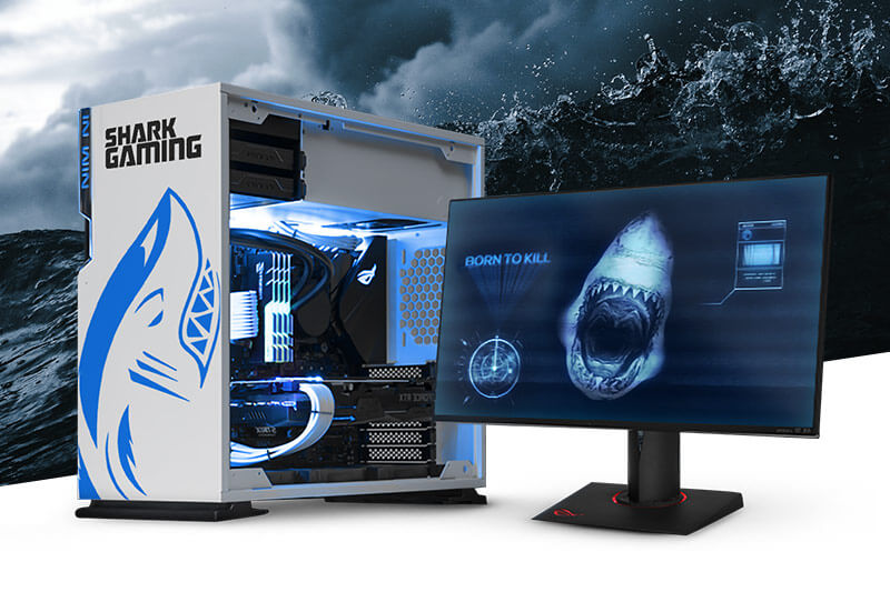 Shark Gaming personaliseert computers met behulp van een Roland VersaUV LEF-300 UV-printer