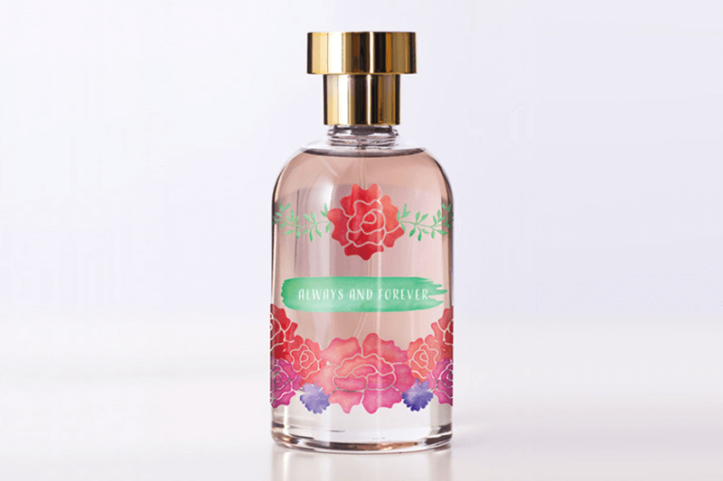 glass printing logos on perfume bottles