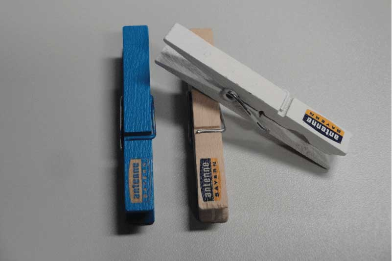 directly printing on wooden clothes pegs