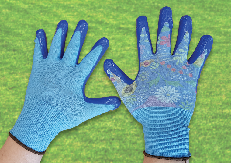 custom garden gifts printing onto gloves