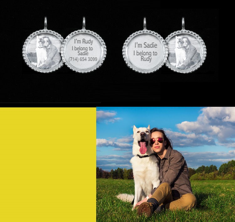 Impact engraving lets your doggo and its human share matching jewellery