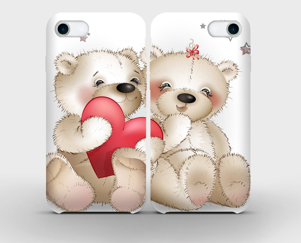 cartoon bears printed on mobile phone cases