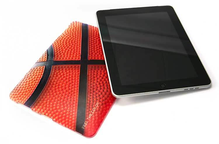printed textures on a tablet cover