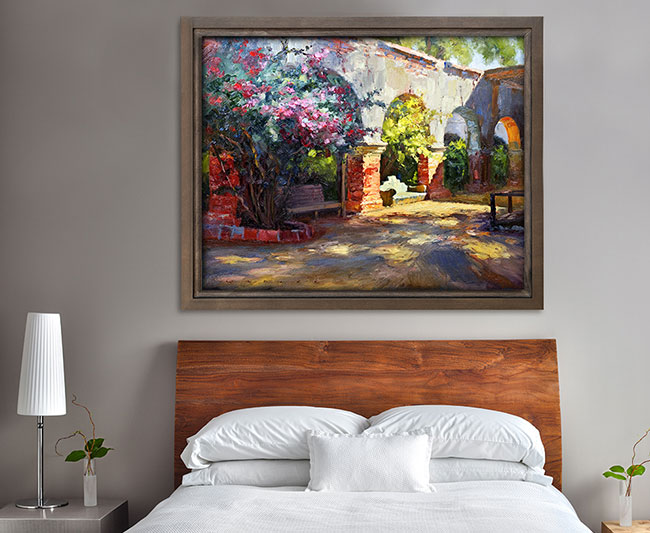 Fine art decoration printed with UV technology