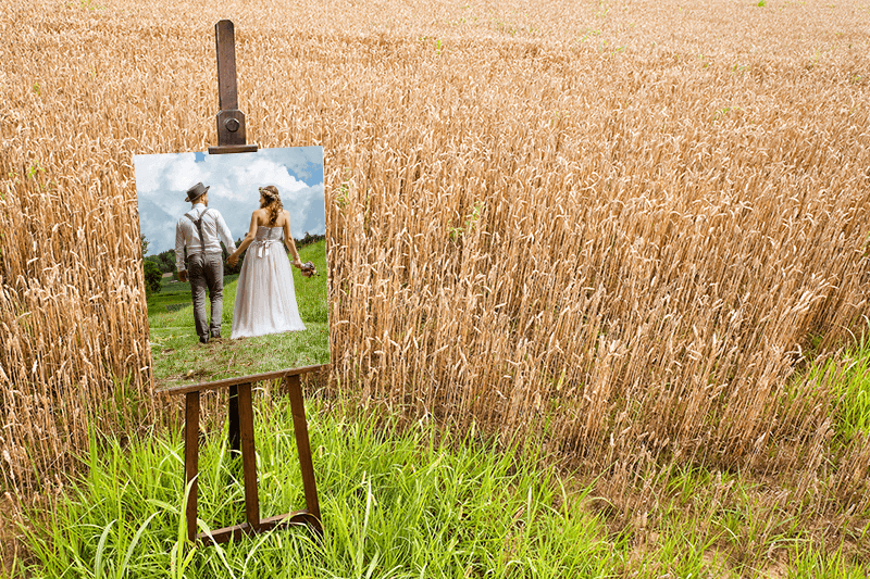 Printing wedding photos directly onto canvas