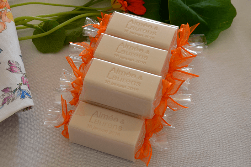 wedding favours personalised engraved soap