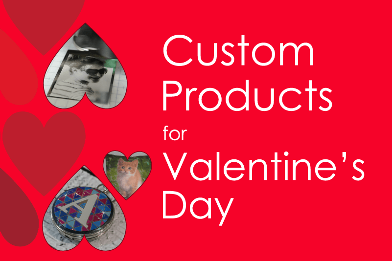Custom Products for valentines day Header Mobile