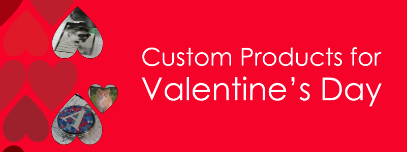 Custom Products for valentines day Header