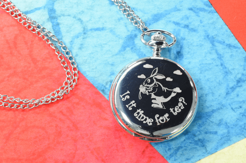 Valentines Day engraved pocket watch