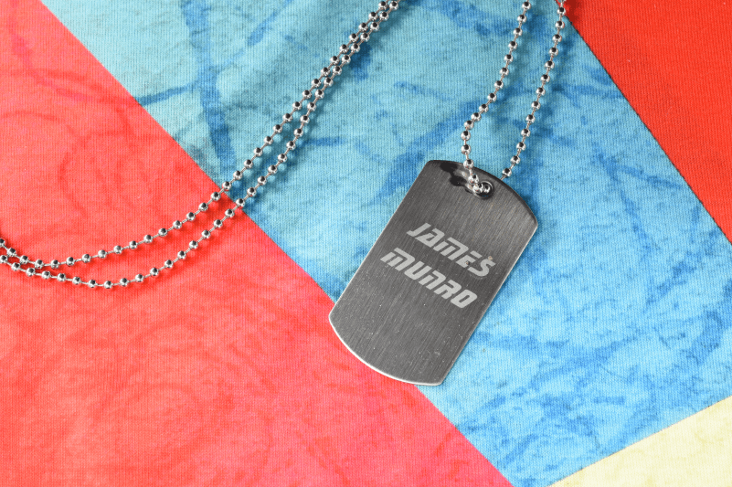 Valentines Day engraving dog tags