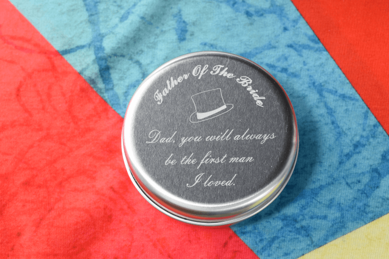 Valentines Day engraving personalised metal tin