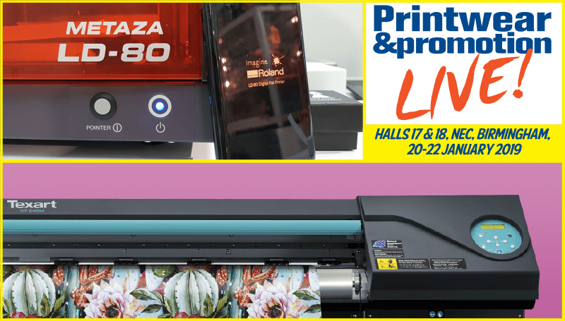 Roland DG to exhibit at Printwear & Promotion Live 2019 with new printer models