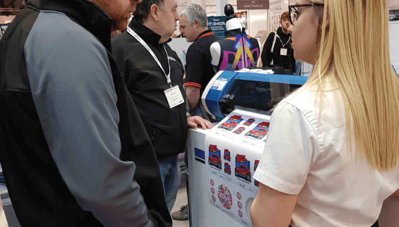 Explaining the benefits of the BN-20 at P&P LIVE! 2019