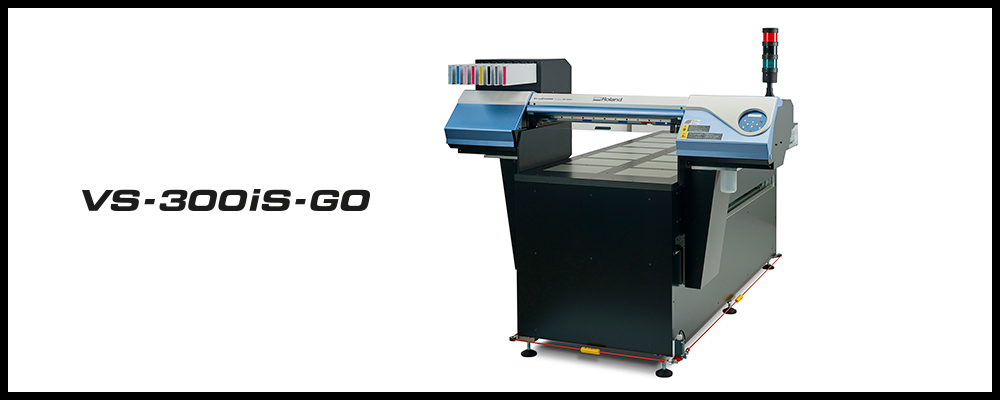 Experience the new Roland VS-300iS-GO, a collaboration between two leaders in their respective areas of expertise, Roland DG EMEA and ink manufacturer Marabu GmbH & Co. KG