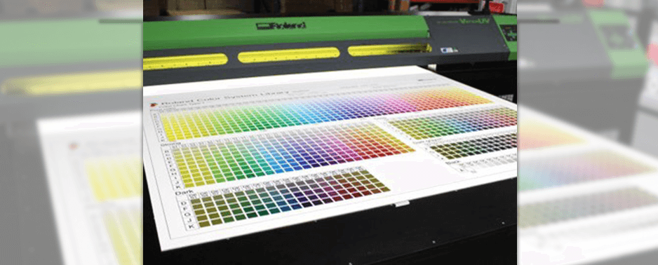 UV flatbed printer colour matching