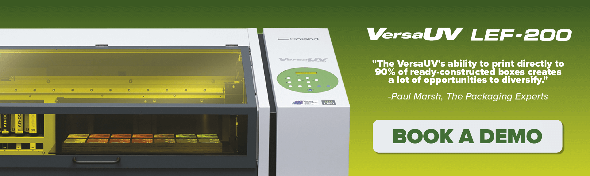 book a demo with our VersaUV LEF 200