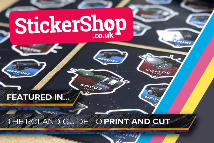 StickerShop features in the Roland Guide to Print and Cut