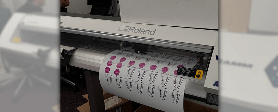 TACTeam uses a Roland DG printer cutter