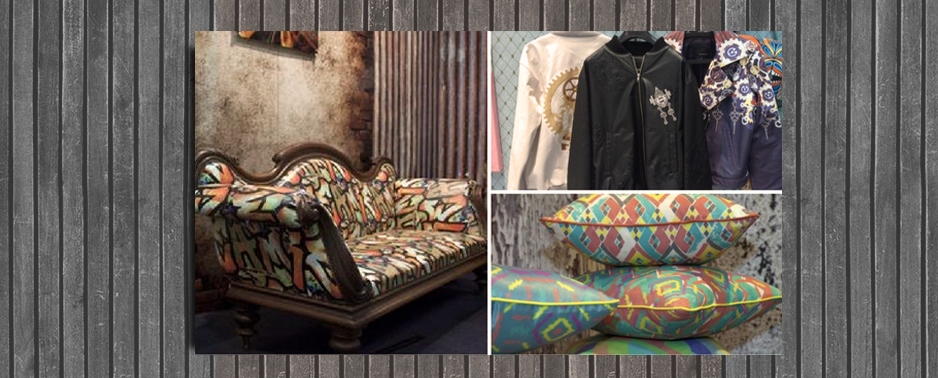 Visual Imprint creates a world of colour and texture, from wallpaper to upholstery to fashion