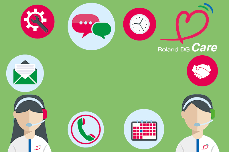 With Roland Care, you don't have to worry if your machine breaks down