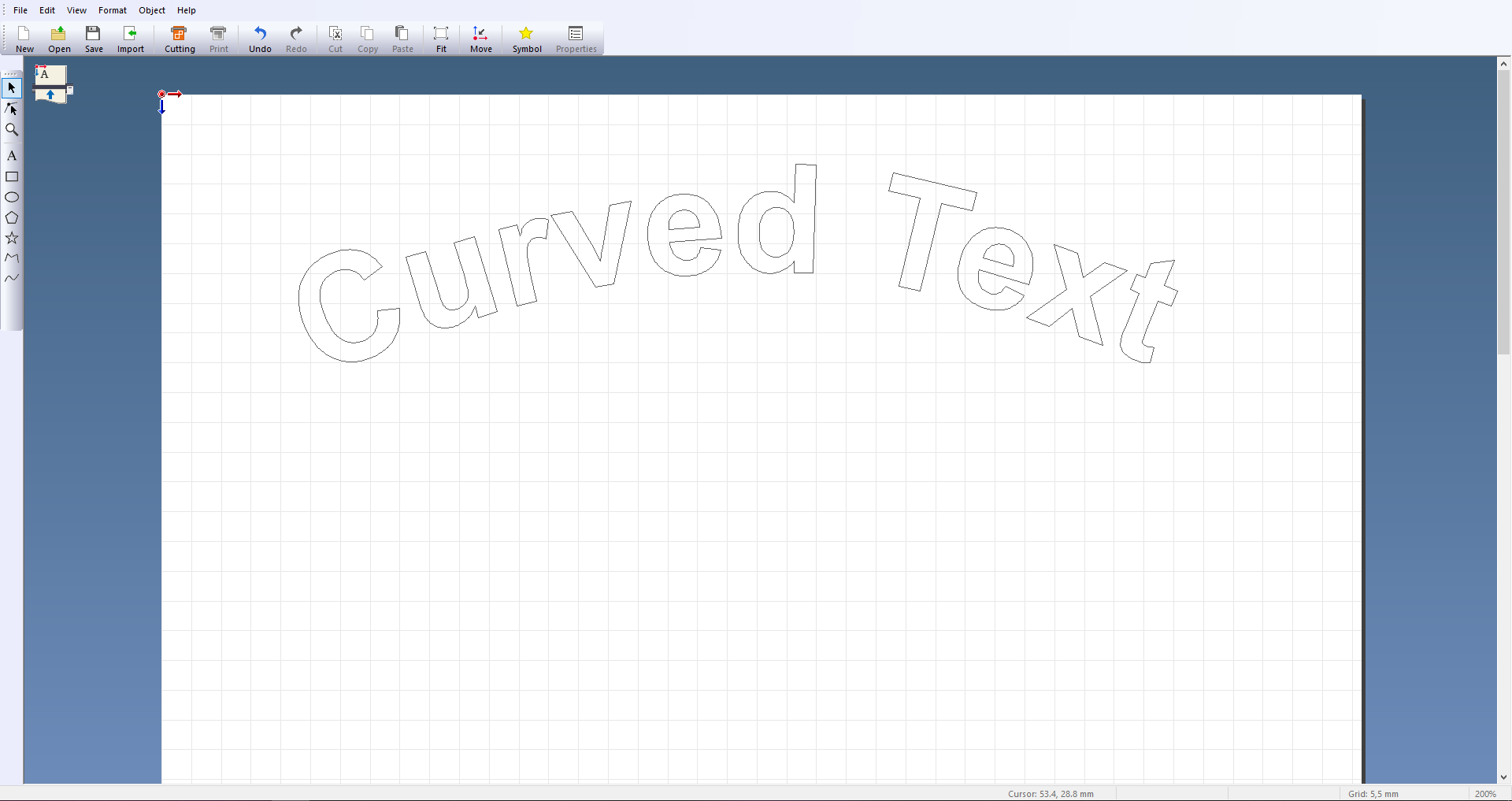 Curved text using CutStudio by Roland DG
