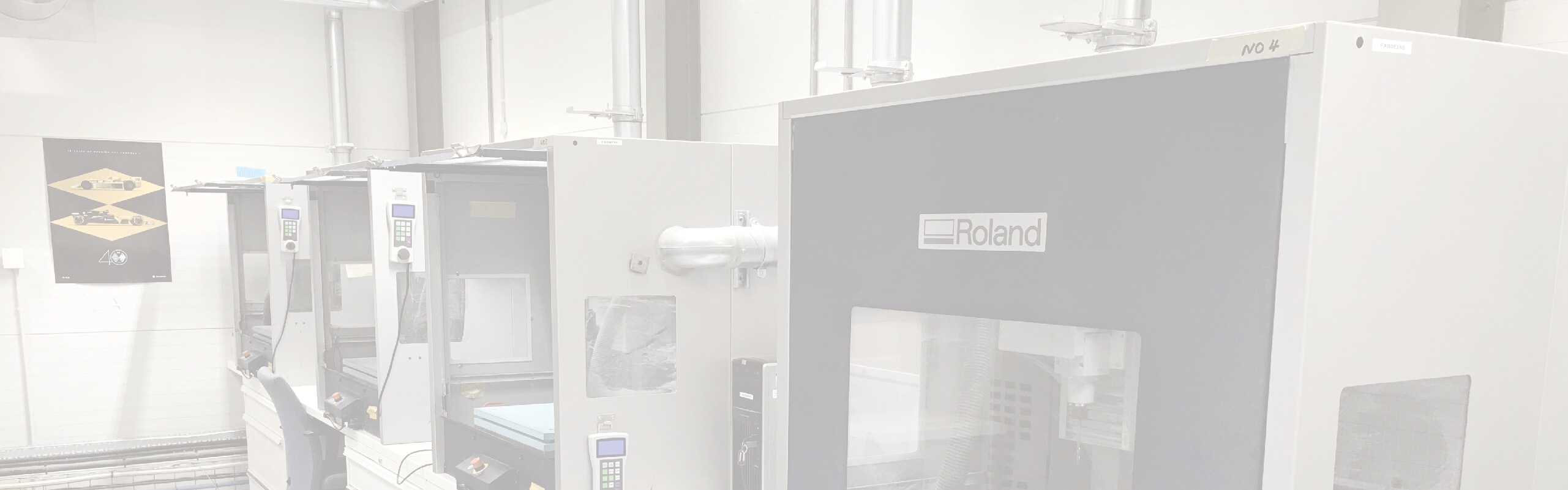 Renault F1 have a range of milling machines including a Roland MDX milling machine.