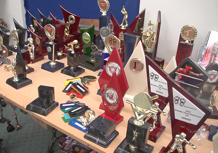 Sport Awards Trophies use their VersaUV LEF-12i for UV printing onto a huge