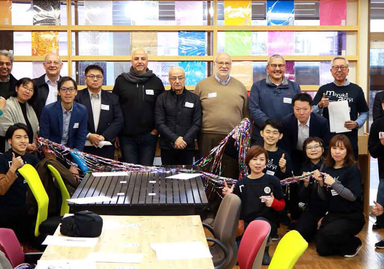 Miyuki Acryl staff welcomed overseas sales partners in charge of Roland DG product sales