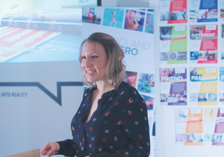 Lisa Moncrieff presented the shortlisted Roland Hero entries to the judges