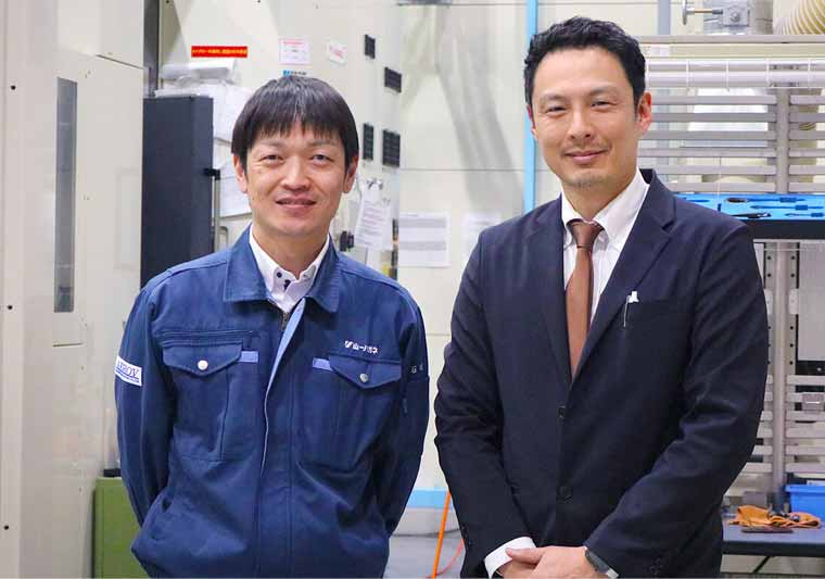 Takaki Ishikawa (left) and Hidetaka Muguruma (right) from Yamaichi Special Steel