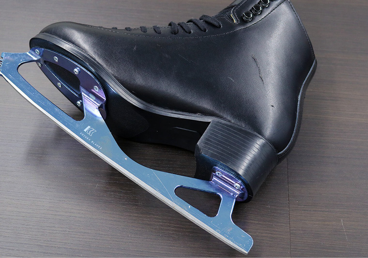The team tested many ice-skating prototypes on the ice