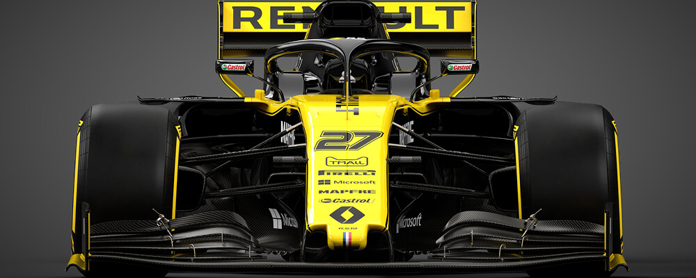 Header Renault F1 Team race car