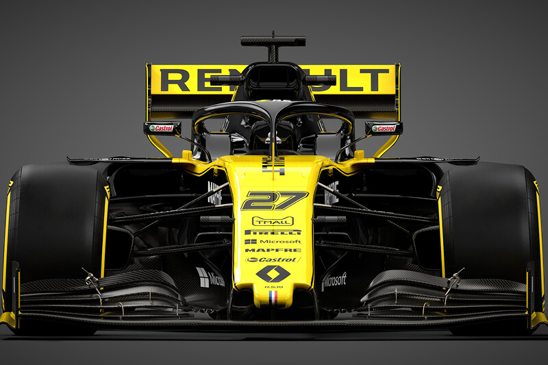 Teaser Renault F1 team race car