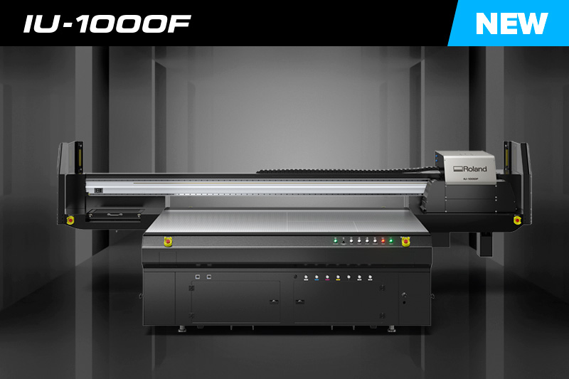 IU-1000F High-Speed Large-Format UV-LED Flatbed Printer Roland DG