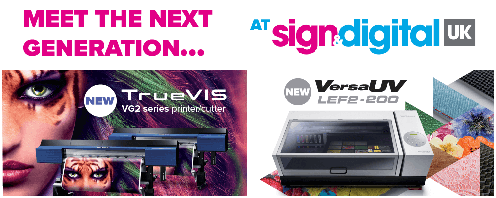 Visit Roland DG at Sign & Digital UK 2019 on Stand F30