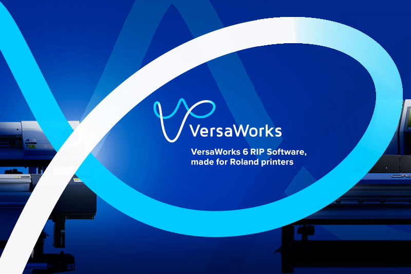 The latest version of VersaWorks 6 RIP Software is made for Roland DG inkjet printers