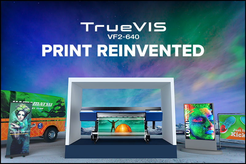 The TrueVIS VF2-640 large format printer is an exciting addition to the Roland DG TrueVIS range.