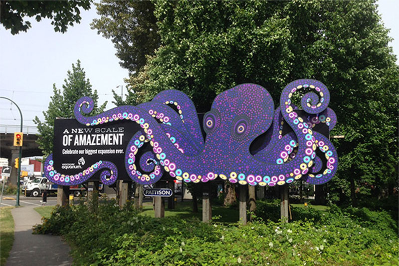 SignCo of Vancouver, British Columbia. 3D billboard for Vancouver Aquarium