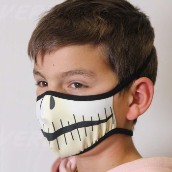 Image of a colorful mask printed with Roland Texart XT-640