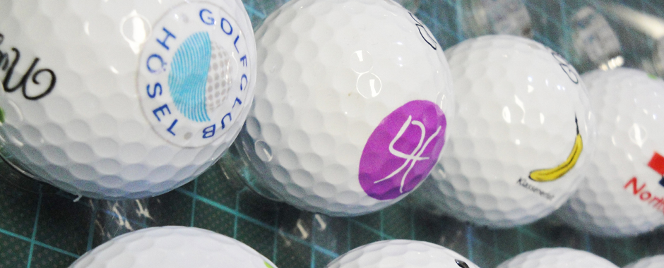 Laser Tattoo's VersaUV LEF printers are used to add branding to golf balls