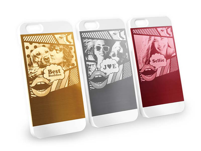 Machine for engraving metal phone cases