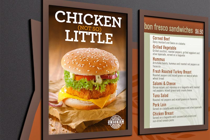 menu boards VersaEXPRESS RF-640 Large-Format Inkjet Printer